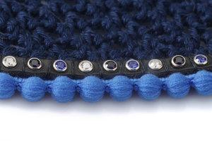 Blue ear net Bubble tricolore blue