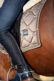 Equestrian Stockholm saddle pad Swarovski crystal fabric