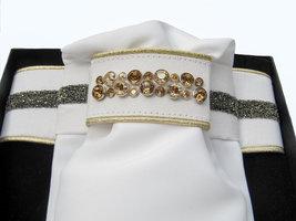 Plastron Crystal Fabric silver diamond Odessa Double colorado gold