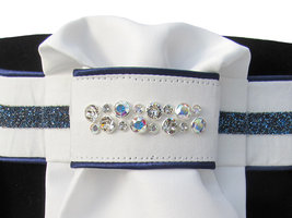 Plastron Crystal Fabric blue Odessa Double crystal AB