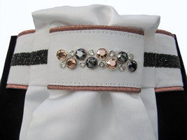 Plastron Crystal Fabric black Odessa Double rose gold black