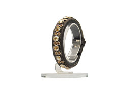 Armband Crystal Fabric gold Onyx colorado gold