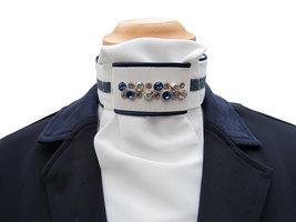 Plastron Crystal Fabric blue Odessa Double sapphire AB