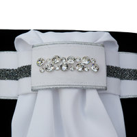 Plastron Crystal Fabric silver diamond Odessa Double crystal clear