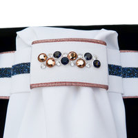 Plastron Crystal Fabric blue Odessa Double rose gold navy