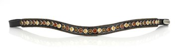 Browband Crystal Fabric Classic tricolore brown