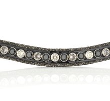 Browband Crystal Fabric tricolore black