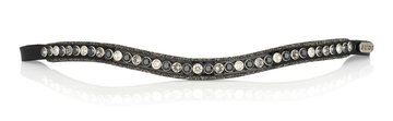 Browband Crystal Fabric Classic tricolore black
