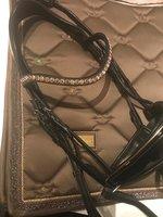Equestrian Stockholm saddle pad by JUDI - dark champagne