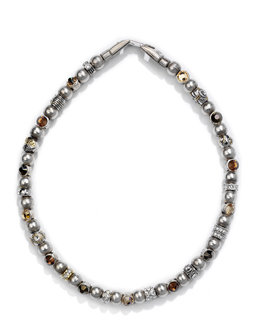 Collier Crown tricolore brown
