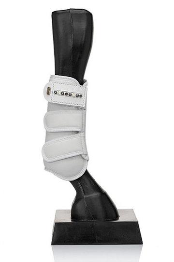 Vóór - Witte peesbeschermers De Luxe tricolore black