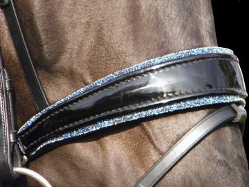 Bridle Crystal Fabric blue