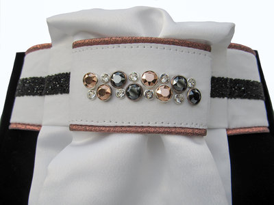 Stock tie Swarovski rose gold black
