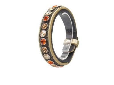 Bracelet Swarovski orange gold