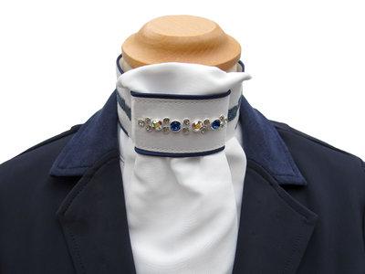 Stock tie Swarovski Crystal Fabric blue