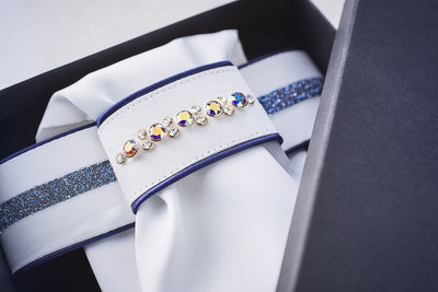 Stock tie Swarovski crystal AB