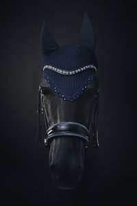 Bridle Swarovski Crystal Fabric blue