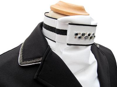 Stock tie Swarovski Crystal Fabric black