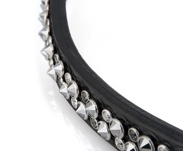 Swarovski spikes chrome