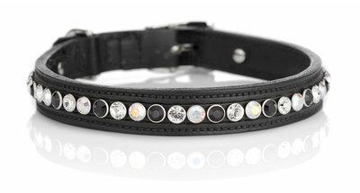 Hondenhalsband Classic tricolore black