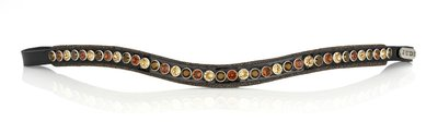 Swarovski Crystal Fabric tricolore brown