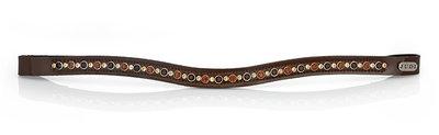 Swarovski browband JUDI frontriem Stirnband Odessa tricolore brown